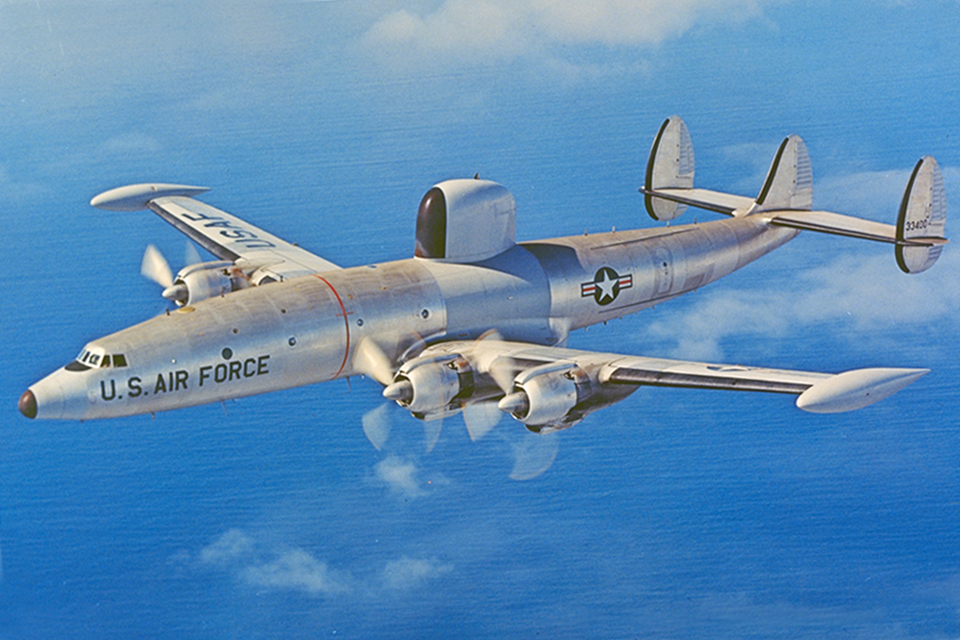 The U.S. Navy and Air Force both used the Constellation in a number of military roles, such as this specialized electronic reconnaissance version, the RC-121D. (Lockheed Martin)